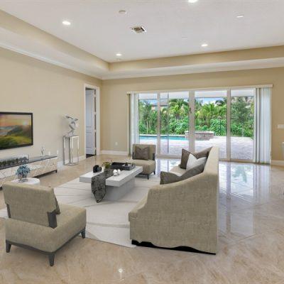 Staged Great Room-Lot 8